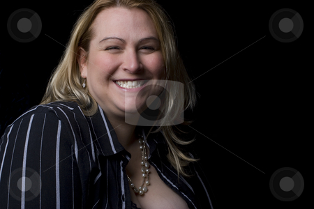 Caught laughing stock photo, Full figure women in evening clothes caught in the middle of a laugh by Yann Poirier