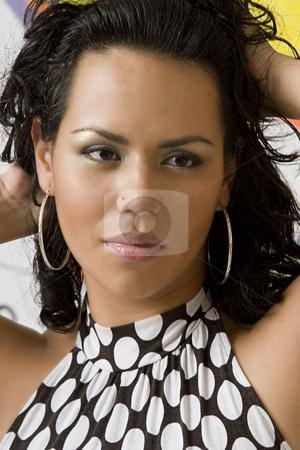 Sexy columbian woman stock photo, Portrait of a mid-twenty columbian women by Yann Poirier