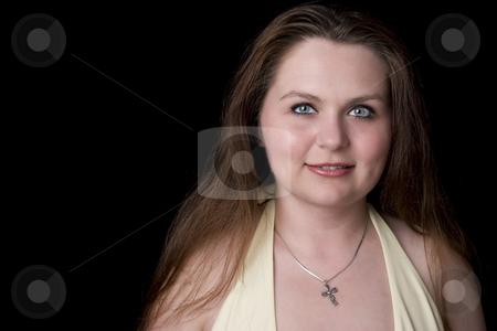 Portrait of a cute girl stock photo, Portrait of a twenty year old girl by Yann Poirier