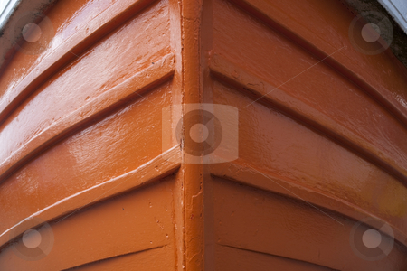 Prow of a filey coble 2 stock photo, A close up of the prow of a brightly painted traditional small fishing boat by Mike Smith