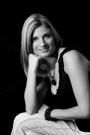 Classic portrait stock photo, Classic portrait of a thirty something woman by Yann Poirier