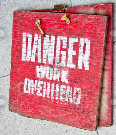 Red Danger Sign with words