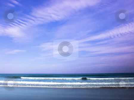 Sand sea and sky 4 stock photo, Sand sea and sky on the east coast of england by Mike Smith