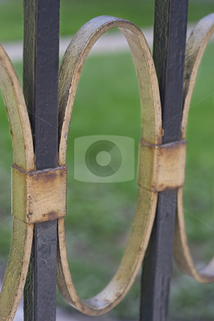 Iron fence stock photo, Close up of an iron fence by Yann Poirier