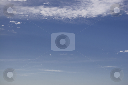 Cloudy sky stock photo, Open space sky with some cloud by Yann Poirier