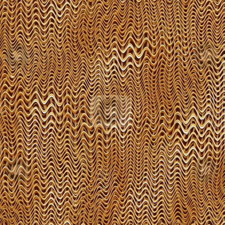 3d waves pattern stock photo, Texture of plastic gold brown 3d curves by Wino Evertz