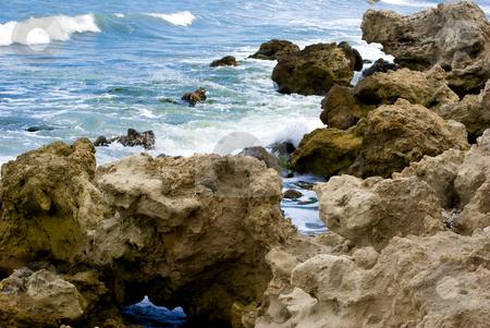 Rocky coast stock photo, Sea stones at the shore of Ravda Black Sea by Desislava Dimitrova