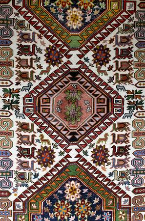 Rug stock photo, Colorful old style bulgarian rug closeup by Desislava Dimitrova