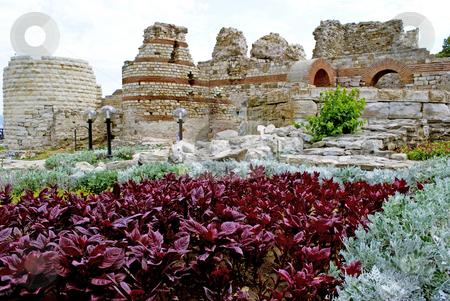 Nesebar stock photo, Castle ruins in old Nesebar Bulgaria by Desislava Dimitrova