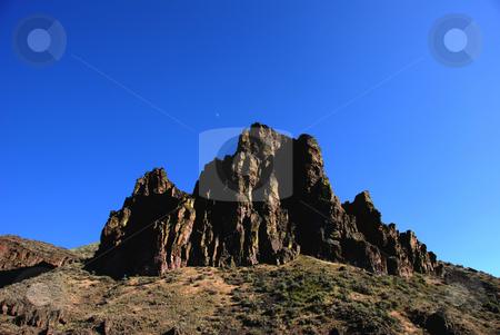 Pinnacle stock photo, USA, Oregon, Owyhee County, Owyhee Lake (Reservoir) by David Ryan