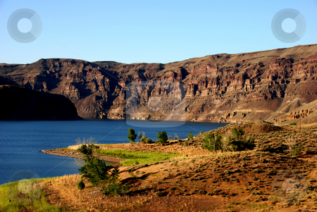 Owyhee Lake stock photo, USA, Oregon, Owyhee County, Owyhee Lake (Reservoir) by David Ryan