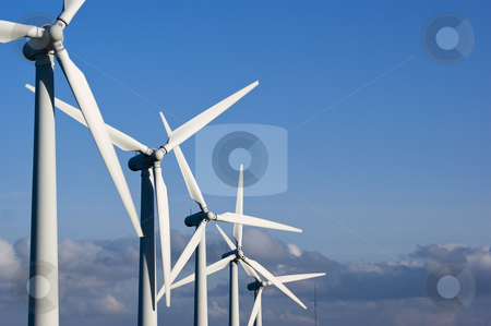 Wind Farm Yorkshire stock photo, Wind Turbines on the Yorkshire Moors England by Stephen Meese
