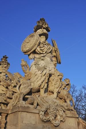 Statue in Schonbrunn Vienna stock photo, Statue at sunset in Schonbrunn Vienna by Sharron Schiefelbein
