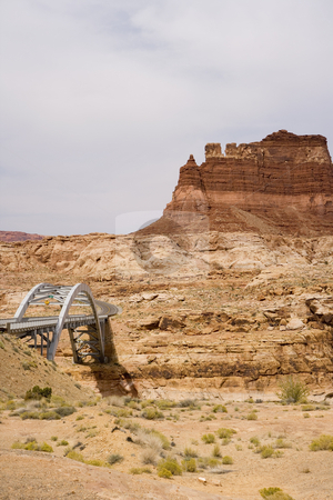 408 Bridge in Utah stock photo, Grand Staircase Escalante National Park by Sharron Schiefelbein
