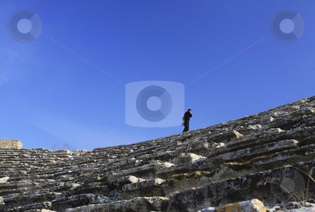 376 Guarding the Roman Ruins of Hierapolis  stock photo, The Roman ruins of Hierapolis  are found at Pamukkale Turkey by Sharron Schiefelbein