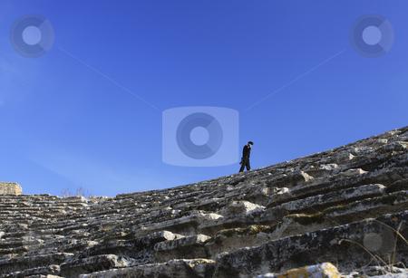 377 Guarding the Roman Ruins of Hierapolis  stock photo, The Roman ruins of Hierapolis  are found at Pamukkale Turkey by Sharron Schiefelbein
