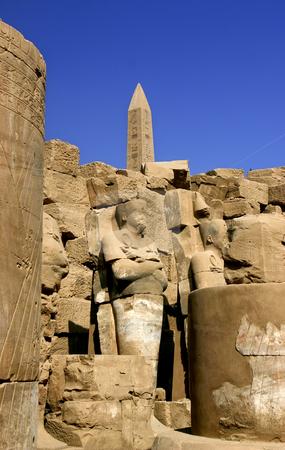 184 Karnak obelisk in Luxor Egypt stock photo, One of the obelisk in the Temple of Karnak in Luxor Egypt by Sharron Schiefelbein