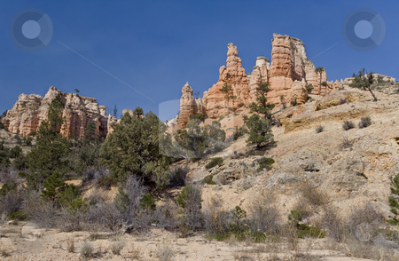 396 Rock formation stock photo, Hoodoos in the Arches National Park by Sharron Schiefelbein