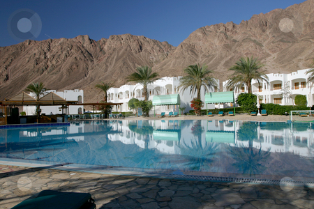 5 Egypt Dahab stock photo, Resort just outside of Dahab on the Red Sea in Egypt . by Sharron Schiefelbein