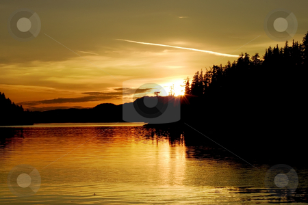 Sunset on the West Coast of British Columbia stock photo, Sunset on the West Coast of British Columbia by Sharron Schiefelbein