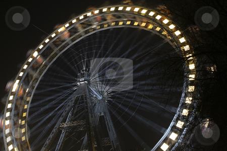 366 Giant Ferris wheel Riesenrad at night stock photo, Riesenrad giant ferris wheel is over 100 years old. by Sharron Schiefelbein