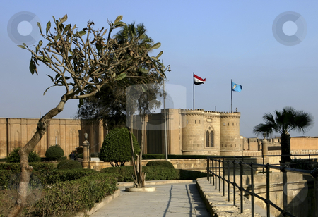 256 View of the Citadel stock photo, The beautiful Citadel buildings located in Cairo Egypt by Sharron Schiefelbein