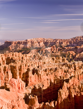 283 Sunrise Point Bryce Canyon  stock photo, Deep amphitheaters filled with flame-colored rock formationa called hoodoos are the hallmark of Bryce Canon National Park. by Sharron Schiefelbein