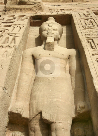 Abu Simbel stock photo, Statues of Nefertari as goddess Hathor by Sharron Schiefelbein
