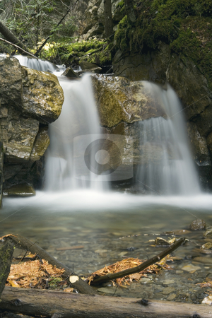 Small Waterfall stock photo, Small WaterfallA beautiful Waterfall surrounds by a forest by Sharron Schiefelbein