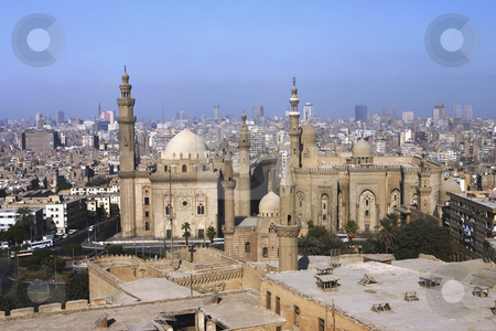 Cairo Egypt overview stock photo, An overview of Cairo from the Citadel by Sharron Schiefelbein