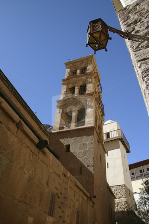 St Catherine's Monastery stock photo, Tower in the St Catherine's Monastery by Sharron Schiefelbein
