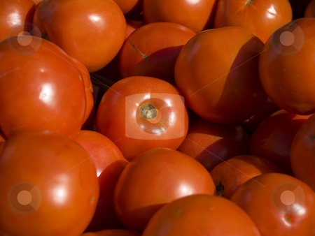 Market groceries stock photo, Close up on a bunch of red tomatoes. by Ignacio Gonzalez Prado