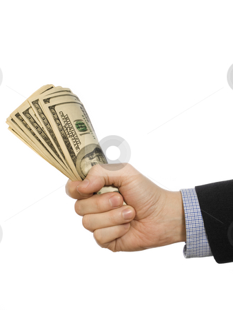 For a few dollars more stock photo, A man's hand holding a handful of dollars. by Ignacio Gonzalez Prado