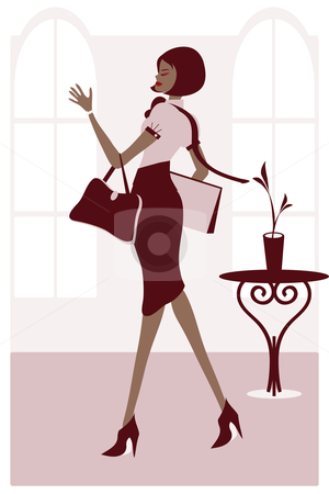 Business Woman stock vector clipart, Vector illustration of a stylish business woman. Eps file is compatible with older versions of illustrator. by Tugce Andic