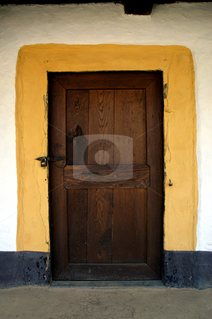 Cottage Door stock photo, Romania, Bucharest, The Village Museum, door of a provincial house by David Ryan