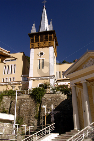 Church of the Virgin Mary stock photo, Romania, Spa Town of Baile Herculane, Roman Catholic Church of the Virgin Mary by David Ryan