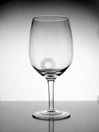 Empty glass of wine stock photo, An empty glass wine on white background. by Ignacio Gonzalez Prado