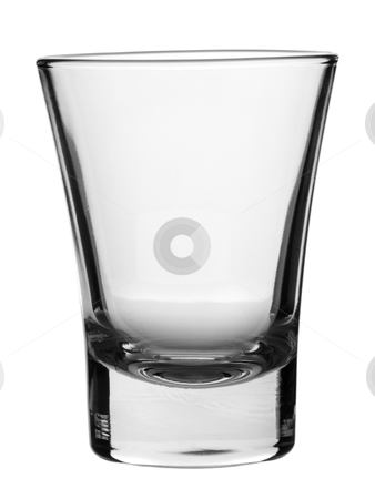 Empty glass stock photo, An empty shot glass on white background. by Ignacio Gonzalez Prado