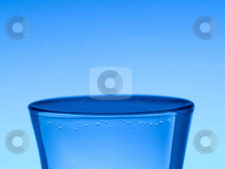 Shot of vodka stock photo, A shot of vodka on blue background. by Ignacio Gonzalez Prado