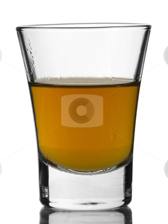 Shot of whisky stock photo, A shot of whisky on white background. by Ignacio Gonzalez Prado