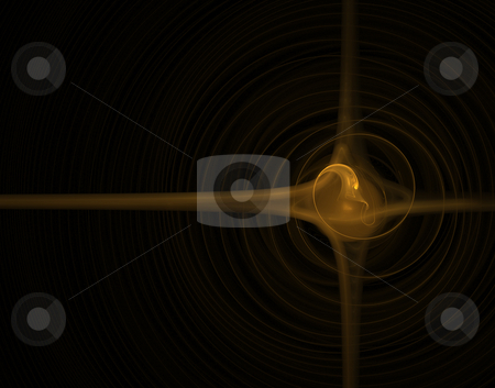 Swirl stock photo, Abstract background - swirl on black - illustration by J?