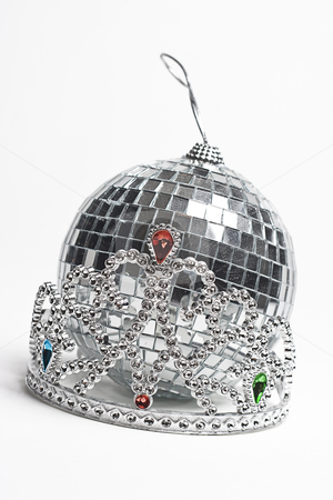 Prom night accessorie stock photo, Tiara and disco ball, two important part of the prom night by Yann Poirier