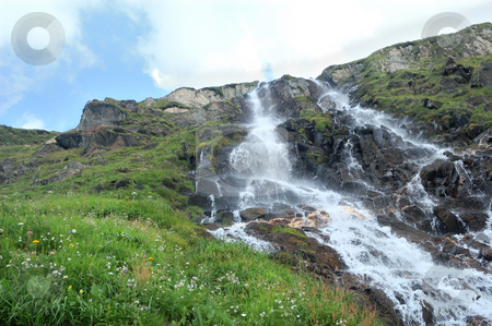 Water fall stock photo, Water fall view in Formazza valley (Italy) by ALESSANDRO TERMIGNONE