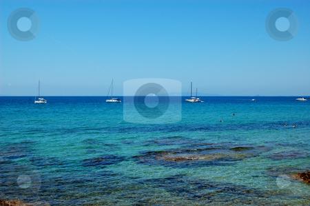 Anchored boats stock photo, Anchored boats on the Mediterranean sea (Italy) by ALESSANDRO TERMIGNONE