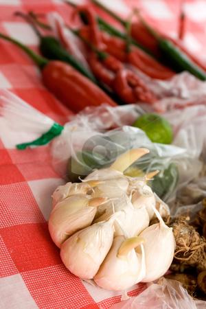 Seasoning ingredients stock photo, Variety of seasoning ingredients on the table by R. Eko Bintoro