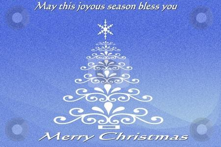 Blue Christmas stock photo, Blue Christmas Card by CHERYL LAFOND