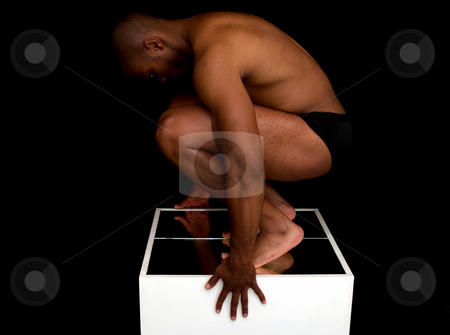 Figure Study stock photo, A strong muscled man posing. by Cora Reed