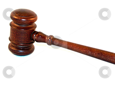 Gavel on white stock photo, Gavel by Cora Reed