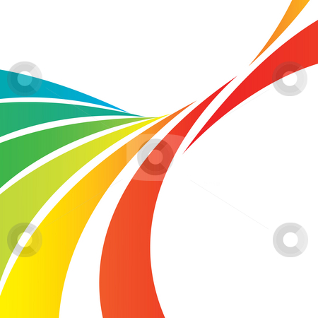 Swooshy Lines Layout stock photo, A colorful abstract design template with plenty of copyspace. This image makes a great background. by Todd Arena
