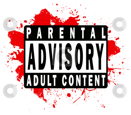 Parental Advisory Label stock photo, A parental advisory warning label for music or video of a mature nature. by Todd Arena